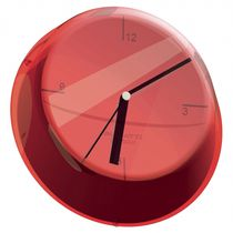 Contemporary clocks / analog / wall-mounted / plastic