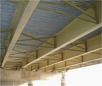 Steel beam / H-shaped / for bridge construction