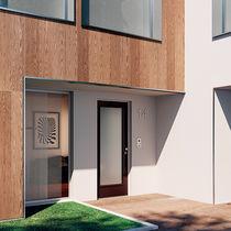 Entry door / swing / wooden / glass