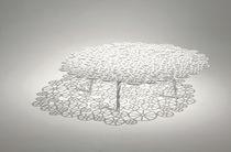 Original design coffee table / steel / round / garden