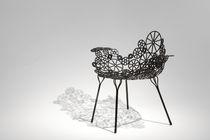 Original design armchair / steel / garden
