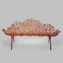 Organic design sofa / garden / steel / 2-seater