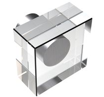 Contemporary furniture knob / crystal