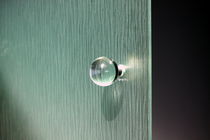 Contemporary door knob / crystal