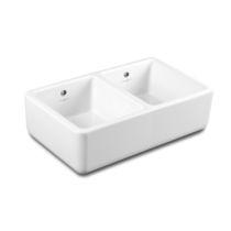 Double kitchen sink / ceramic