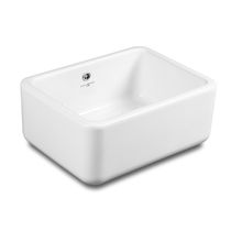 Single-bowl kitchen sink / ceramic