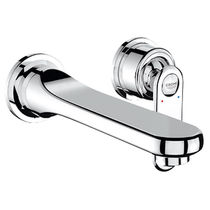 Washbasin mixer tap / wall-mounted / chrome / for bathrooms