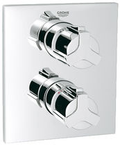 Shower mixer tap / wall-mounted / chrome / thermostatic