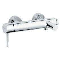 Bathtub mixer tap / shower / wall-mounted / chrome