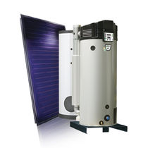 Gas hot water tank / solar / free-standing / vertical