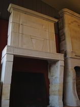 Directoire style fireplace surround / stone
