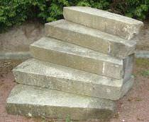 Basalt step / granite / sandstone / limestone