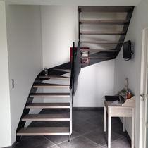 Straight staircase / quarter-turn / half-turn / wooden steps