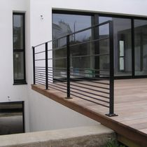 Metal railing / with bars / outdoor / for patios