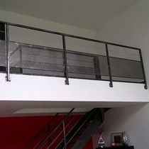 Steel railing / perforated sheet metal / indoor / for stairs