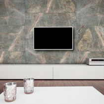 Natural stone wallcovering / residential / commercial / textured