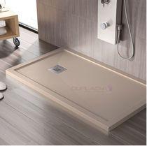 Rectangular shower base / resin / stone / non-slip