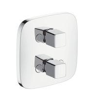 Shower shut-off valve / wall-mounted / chromed metal / bathroom