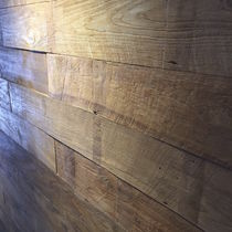 Solid wood flooring / glued / teak