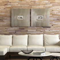 Stone wall cladding / teak / interior / 3D