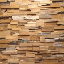 Teak wallcovering / solid wood / residential / commercial