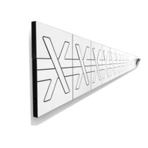 Wall-mounted coat rack / contemporary / HPL / commercial