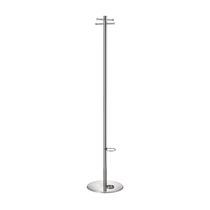 Floor coat rack / contemporary / stainless steel / commercial