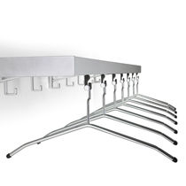 Wall-mounted coat rack / contemporary / metal