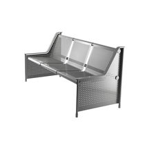 Public bench / contemporary / metal
