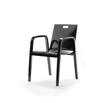 Contemporary chair / with armrests / beech / bentwood