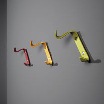 Contemporary coat hook / aluminum / double / commercial