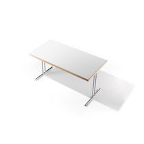 Contemporary classroom table / wooden / rectangular / folding