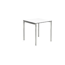 Contemporary table / steel / rectangular / square