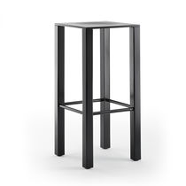 Contemporary bar stool / wooden / commercial / black