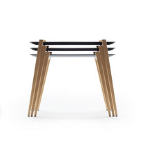 Contemporary nesting tables / wooden / rectangular