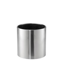Stainless steel planter / round / contemporary / for public areas
