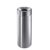 Public trash can / stainless steel / swing / contemporary