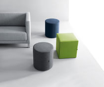 Contemporary pouf / fabric / square / round