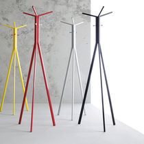 Floor coat rack / contemporary / steel / commercial