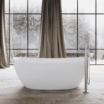 Free-standing bathtub / oval / Solid Surface / stone resin