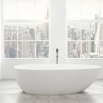 Free-standing bathtub / oval / stone