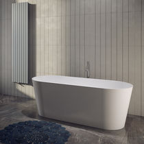 Free-standing bathtub / oval / stone / double