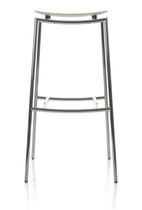 Contemporary bar stool / plywood / birch / chromed metal