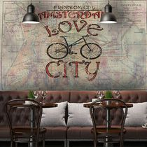 Contemporary wallpaper / vinyl / urban motif / map