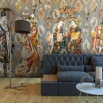 Contemporary wallpaper / vinyl / geometric / chinoiserie