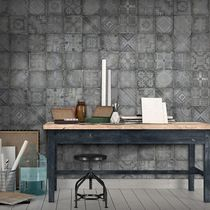 Contemporary wallpaper / vinyl / geometric pattern / plaid