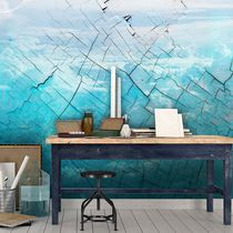 Contemporary wallpaper / vinyl / nature pattern / wave pattern