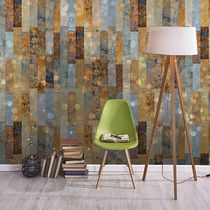 Vintage wallpaper / vinyl / geometric / faience print