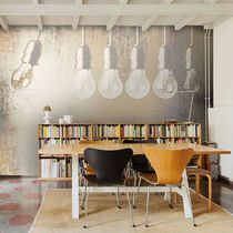 Industrial style wallpaper / vinyl / urban motif / panoramic