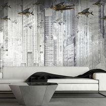 Original design wallpaper / vinyl / animal motif / geometric